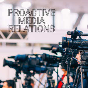 Proactive Media Relations training will deliver the skills that put you in control of your relationship with the press and the public. Creating a balance between the needs of the journalists and your audience while delivering your story and your message as you want it to be heard.